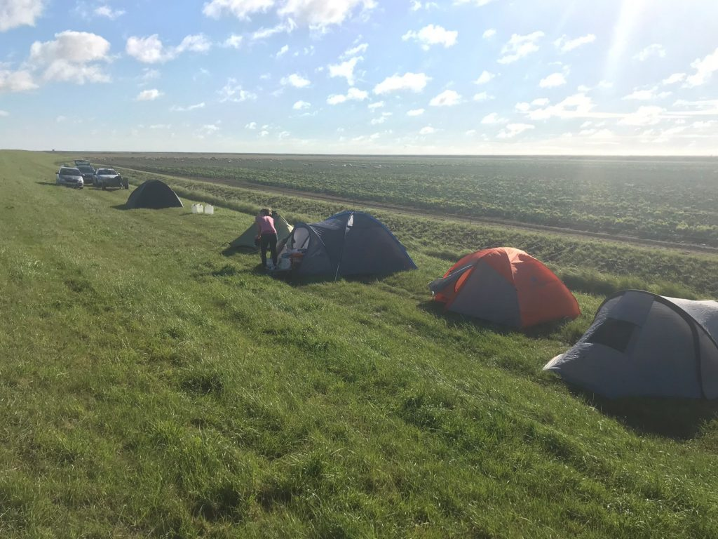 Lincs Horseshoe campsite, by Ryan Burrell