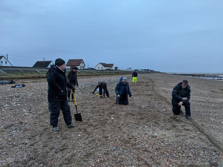 Setting cannon nets on Heacham Beach by Chantal Macleod-Nolan